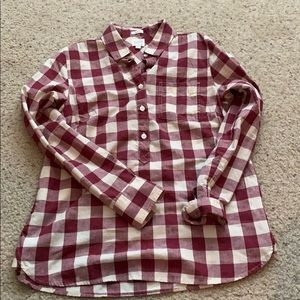 J. Crew checkered button down shirt